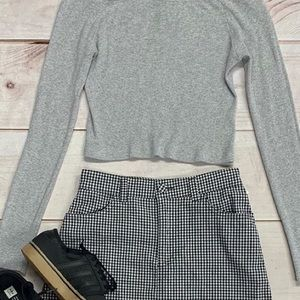 Brandy Melville Cropped Gray Top